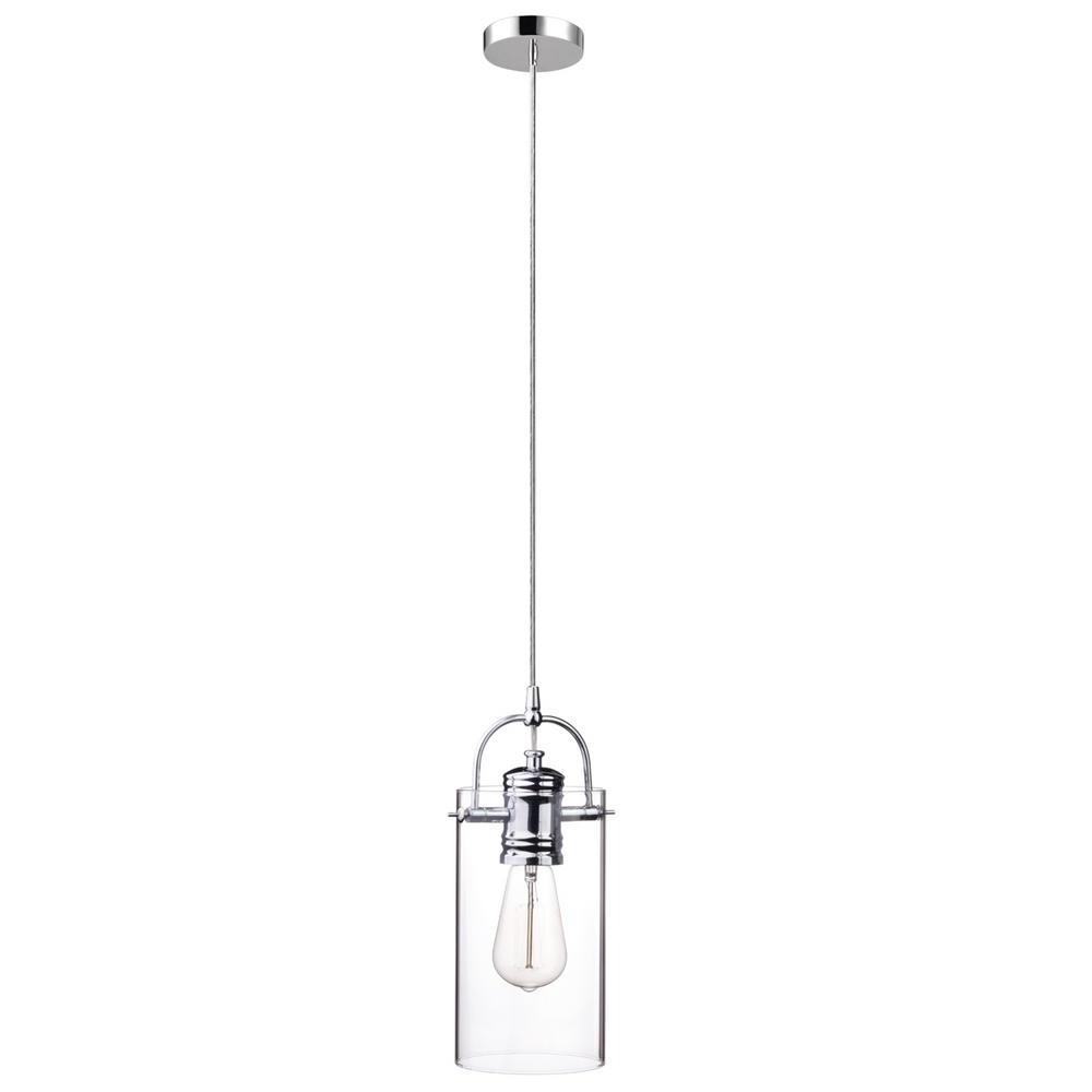 Prange 1 Light Single Globe Pendants With Most Current Globe Electric James 1 Light Chrome Pendant (Gallery 20 of 20)