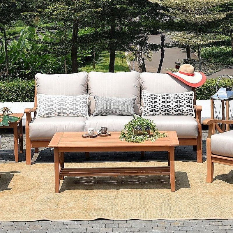 Preferred 27 Patio Sofa Ideas Perfect To Entertain Or Relax In Your In Brunswick Teak Loveseats With Cushions (View 15 of 20)