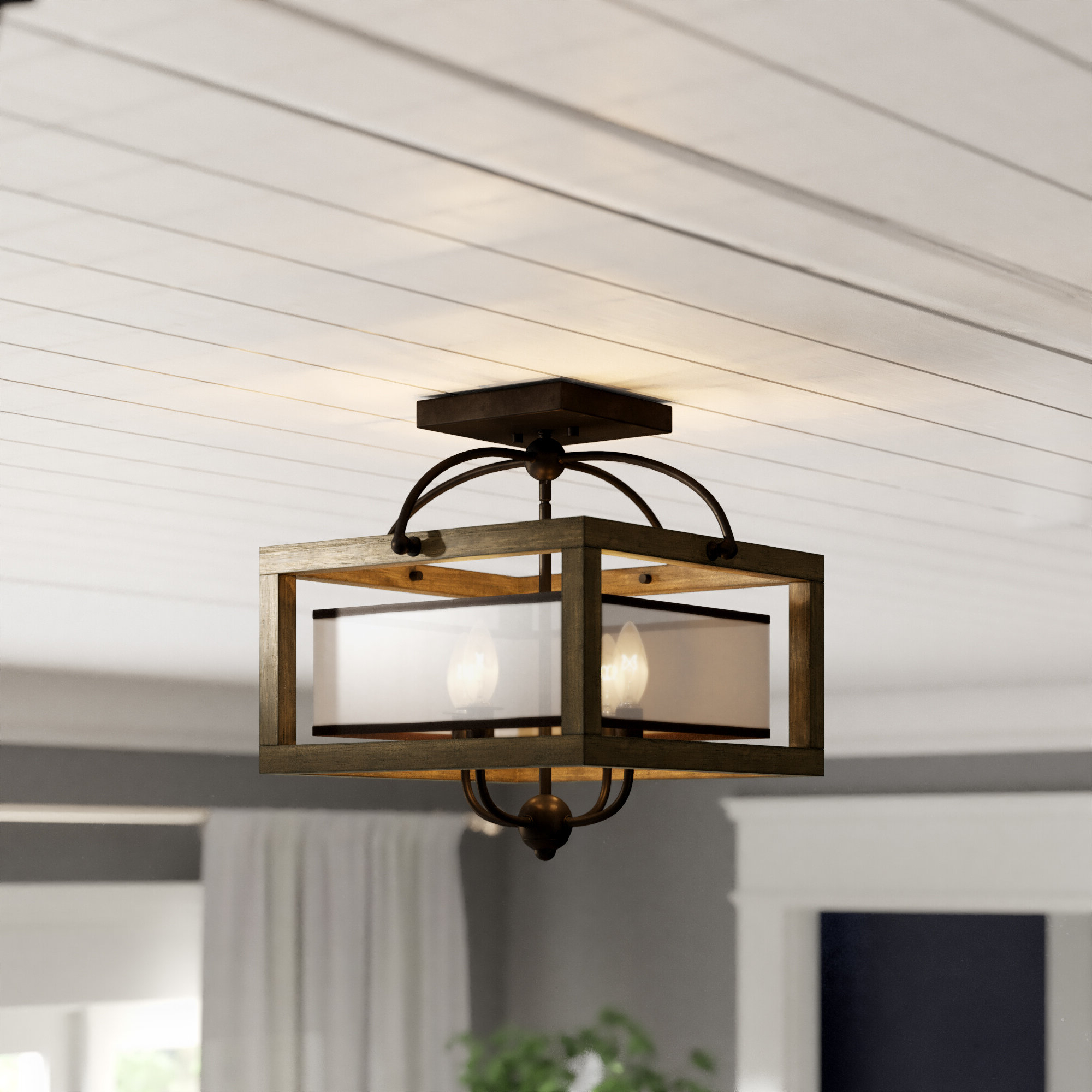 Preferred Aadhya 4 Light Square/rectangle Chandelier Within Delon 4 Light Square Chandeliers (View 15 of 20)