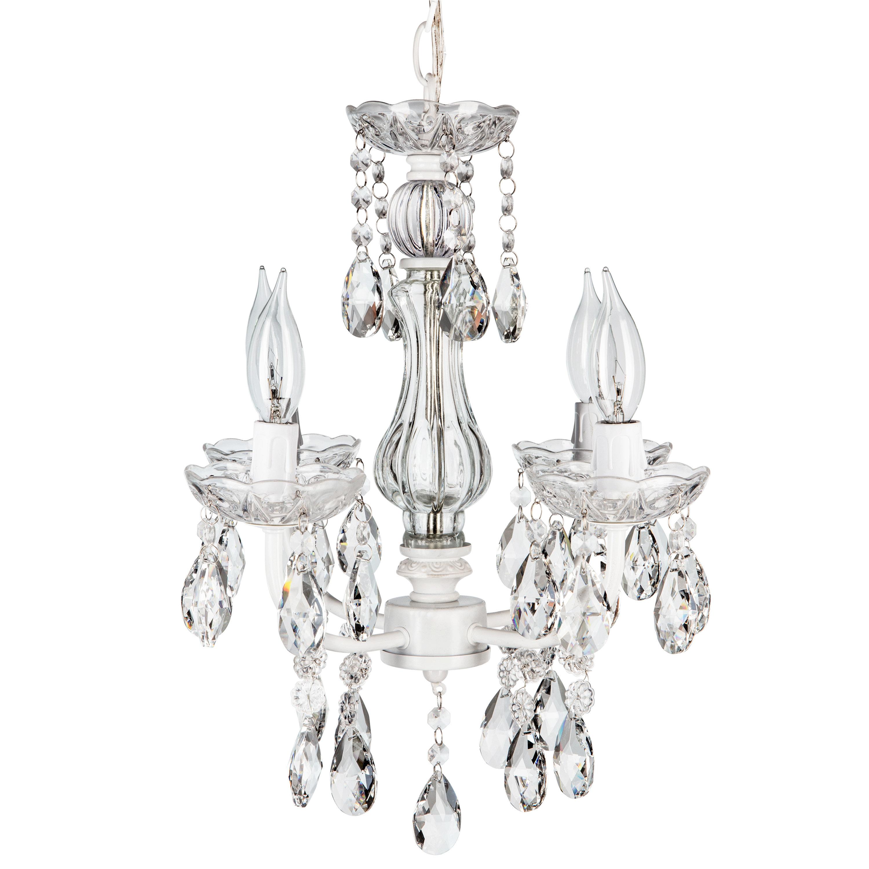 Preferred Astoria Grand Blanchette White 4 Light Candle Style In Blanchette 5 Light Candle Style Chandeliers (View 17 of 20)
