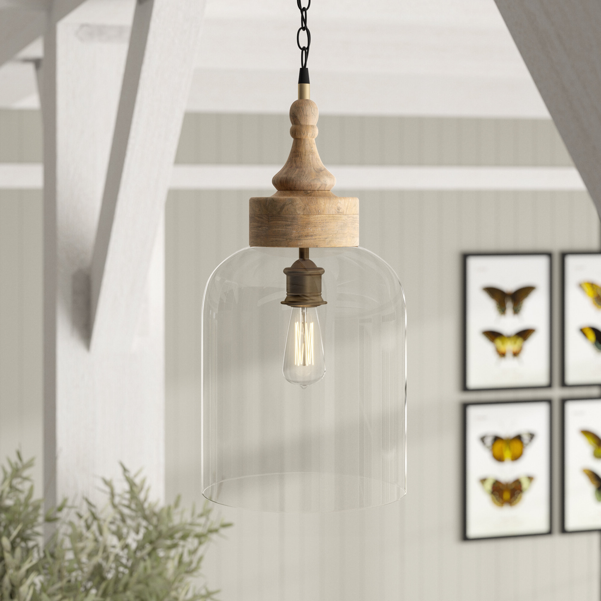 Preferred August Grove Olivo 1 Light Bell Pendant With Houon 1 Light Cone Bell Pendants (Gallery 12 of 20)
