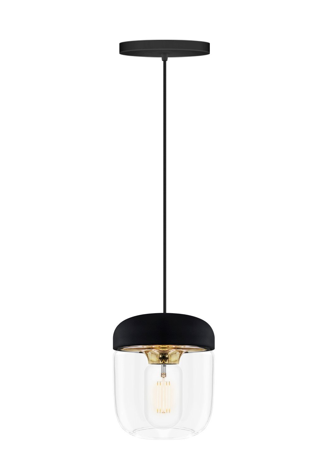 Preferred Burslem 3 Light Single Drum Pendants For Hisako 1 Light Bulb Pendant (View 15 of 20)