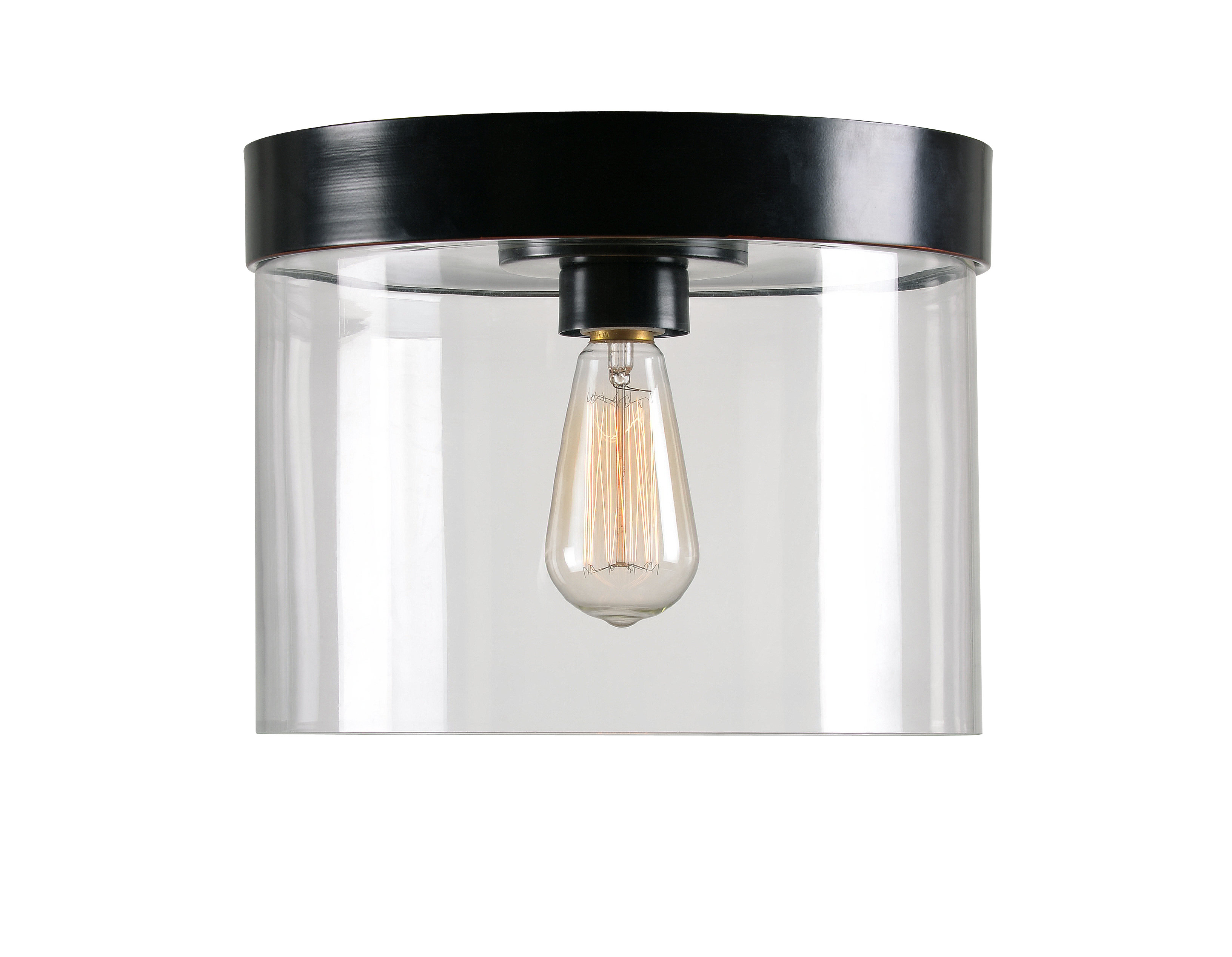 Preferred Clematite 1 Light Single Jar Pendants Inside Clematite 1 Light Flush Mount & Reviews (View 18 of 20)