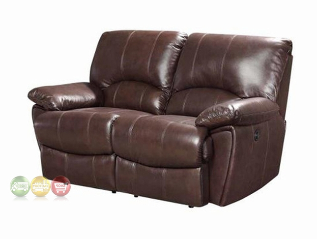 Preferred Clifford Dual Reclining Brown Top Grain Leather Motion Intended For Clifford Loveseats With Cushion (Gallery 20 of 20)
