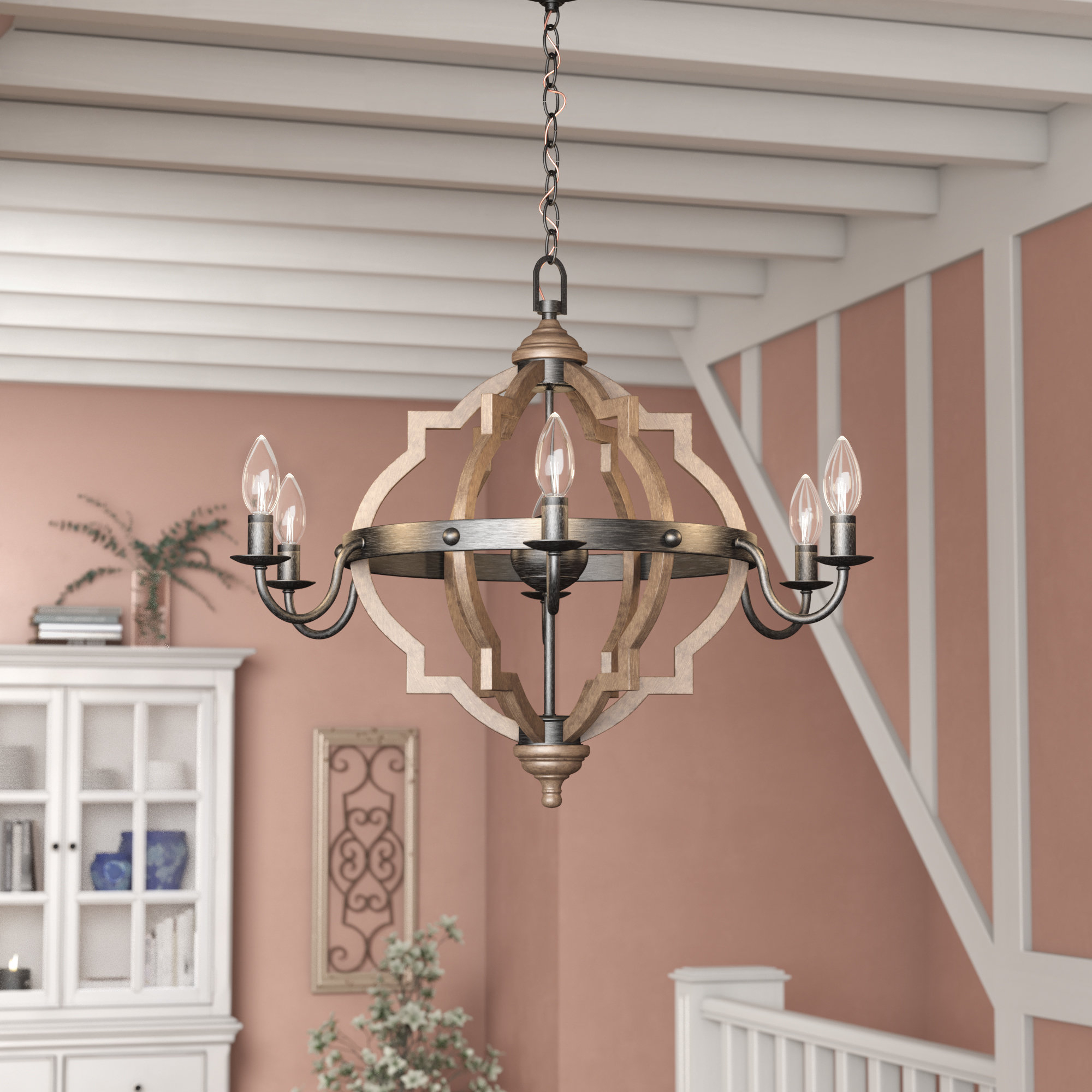 Preferred Donna 6 Light Candle Style Chandelier Throughout Bennington 6 Light Candle Style Chandeliers (Gallery 6 of 20)