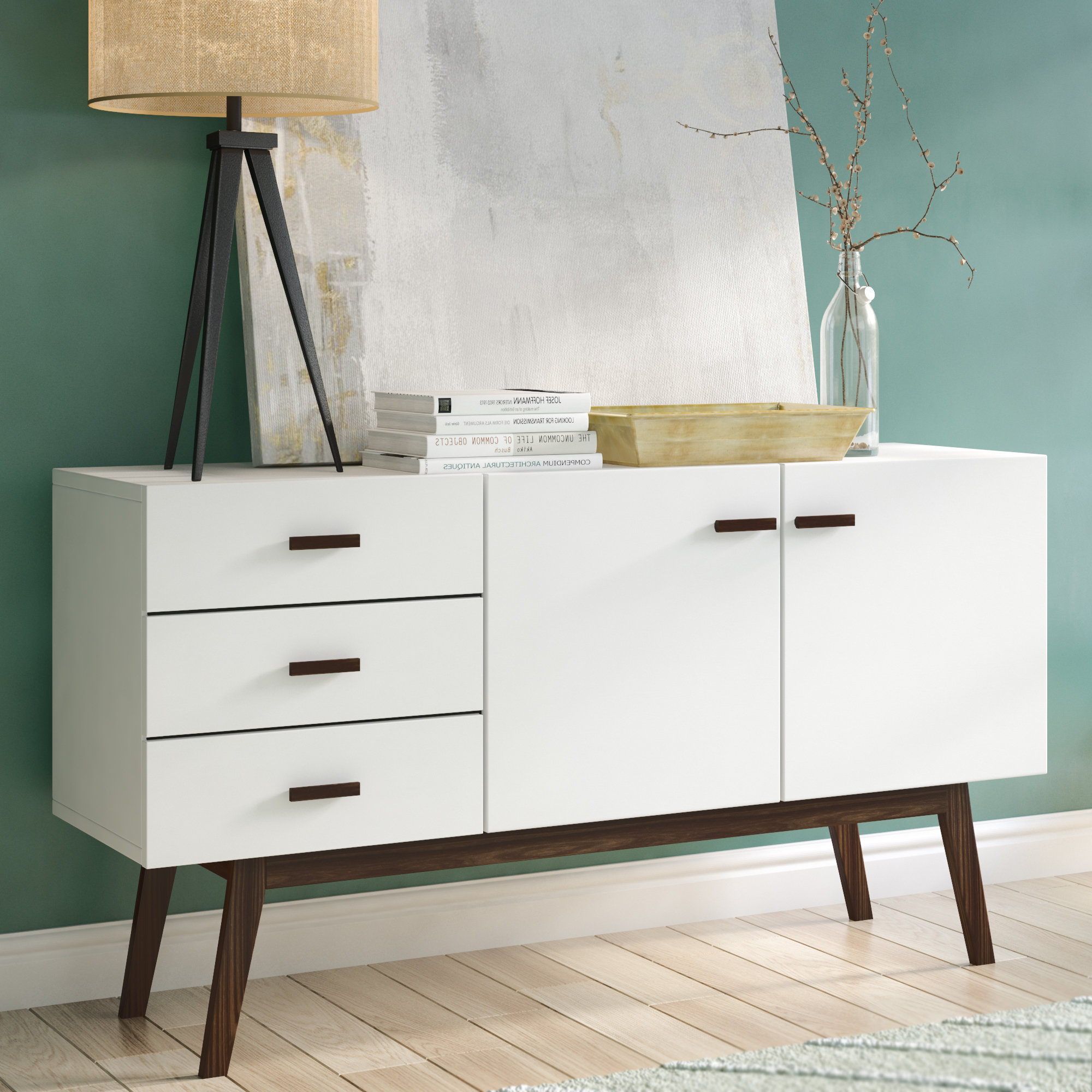 Preferred Dowler 2 Drawer Sideboards Intended For Mayela Sideboard (View 12 of 20)