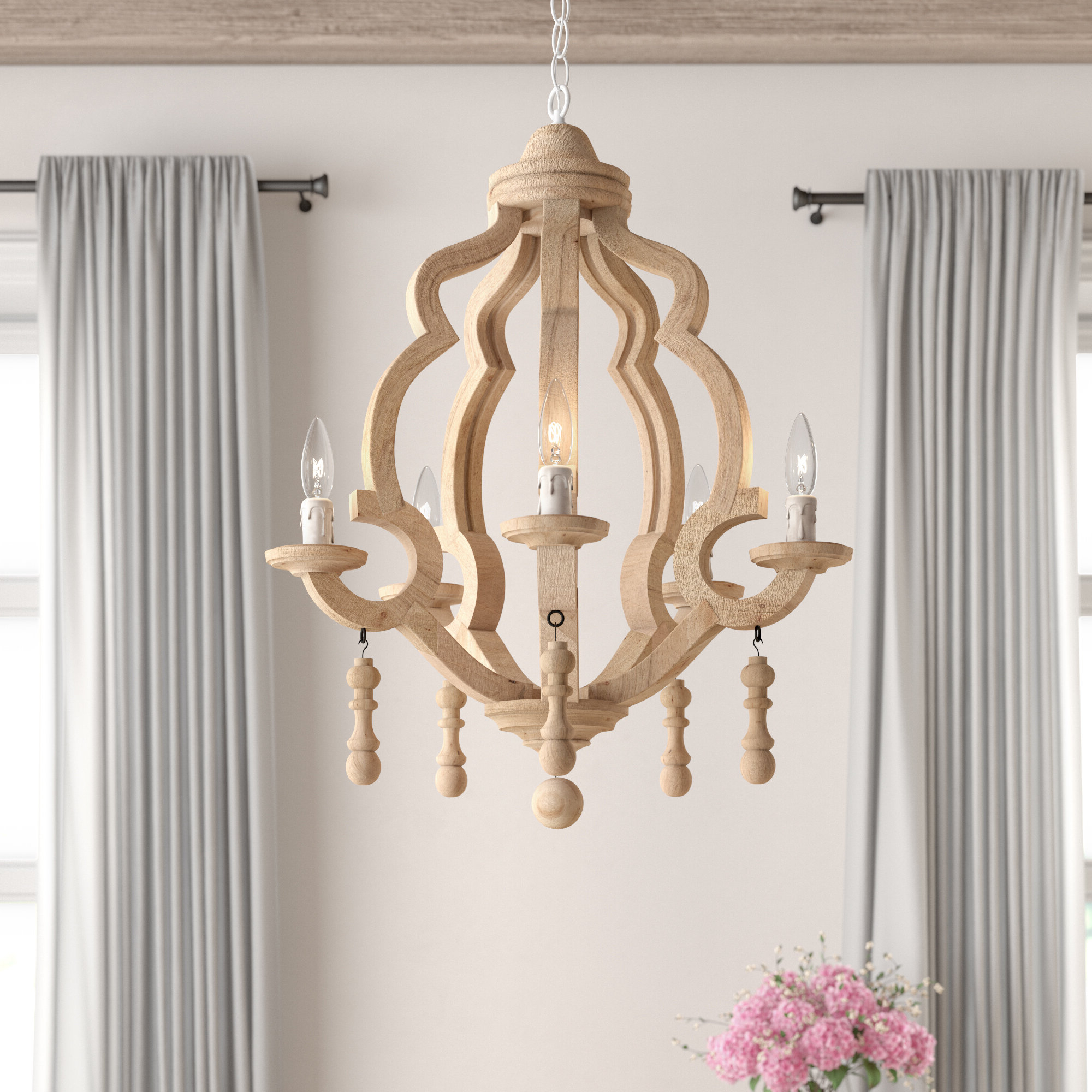 Preferred Duron 5 Light Empire Chandeliers Throughout Kare 5 Light Chandelier (View 14 of 20)