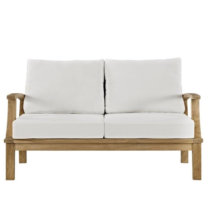 Preferred Elaina Teak Loveseats With Cushions Regarding Elaina Teak Loveseat With Cushions (View 2 of 20)