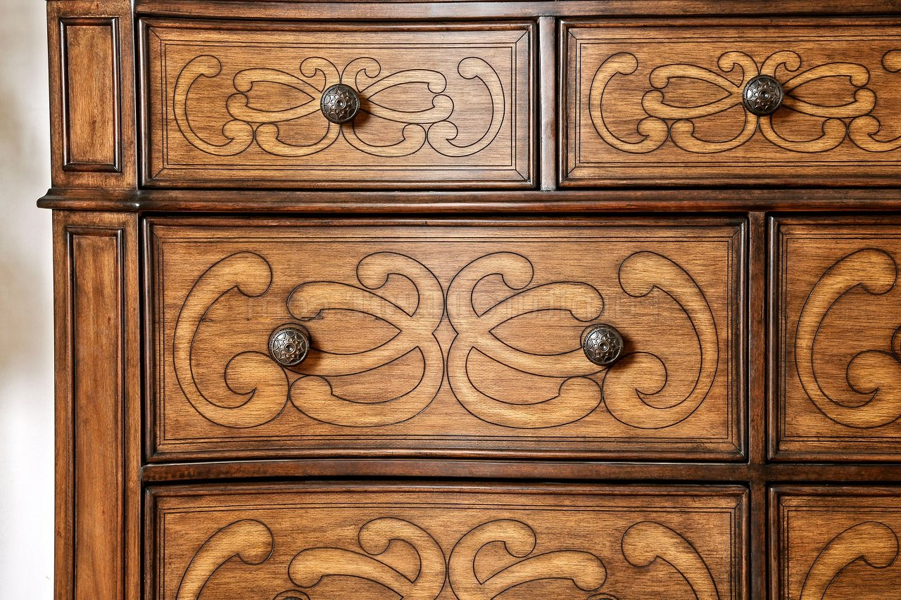 Preferred Emmaline 5pc Bedroom Set Cm7831 In Warm Chestnut W/options Throughout Emmaline Sideboards (View 20 of 20)