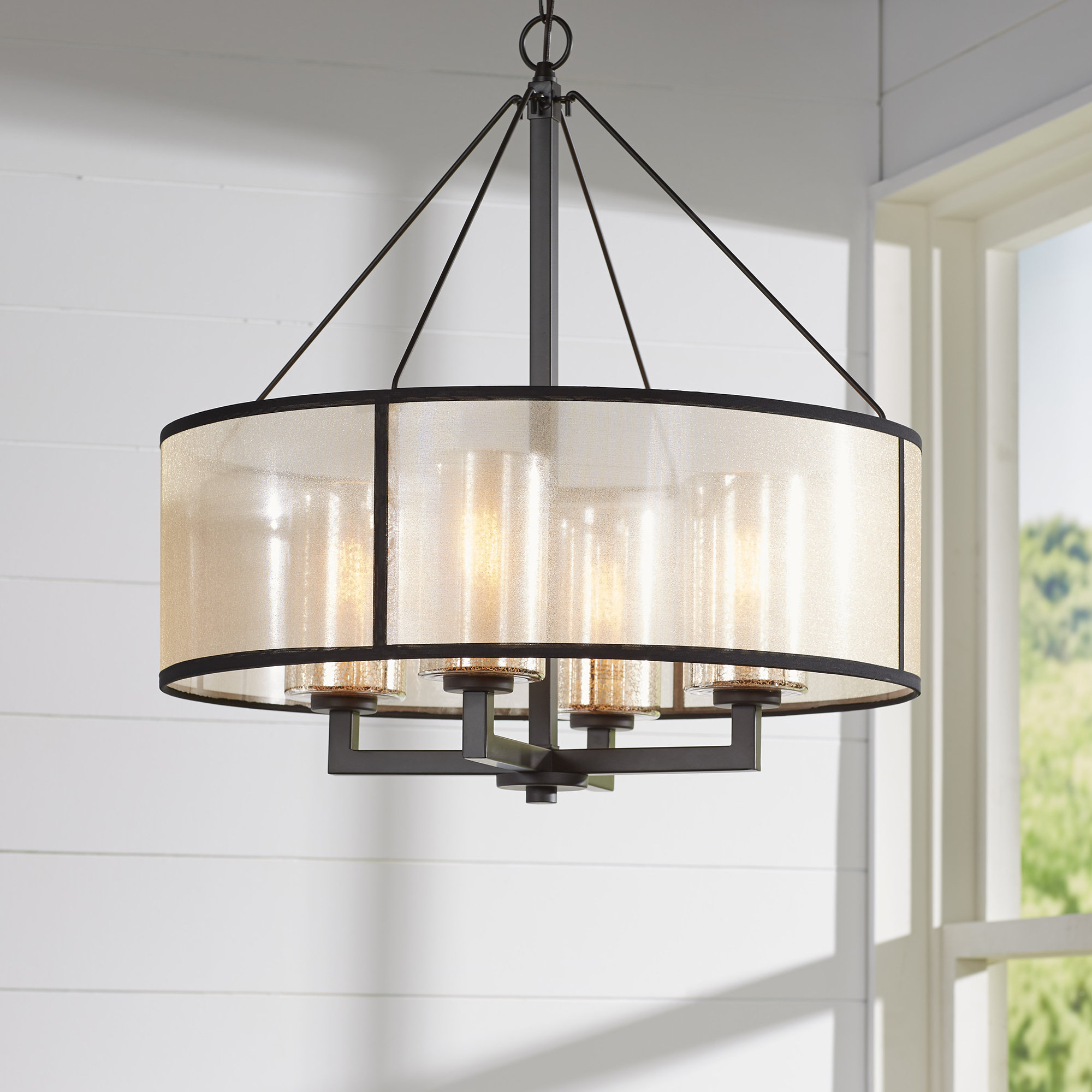 Preferred Farrier 3 Light Lantern Drum Pendants Pertaining To Darby Home Co Farrier 3 Light Lantern Drum Pendant & Reviews (View 17 of 20)