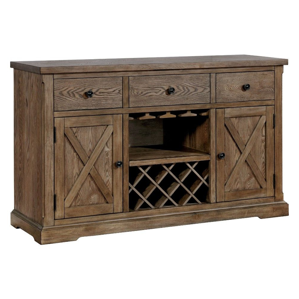 Preferred Iohomes Jellison Transitional Buffet Table Light Oak – Homes In Phyllis Sideboards (Gallery 9 of 20)