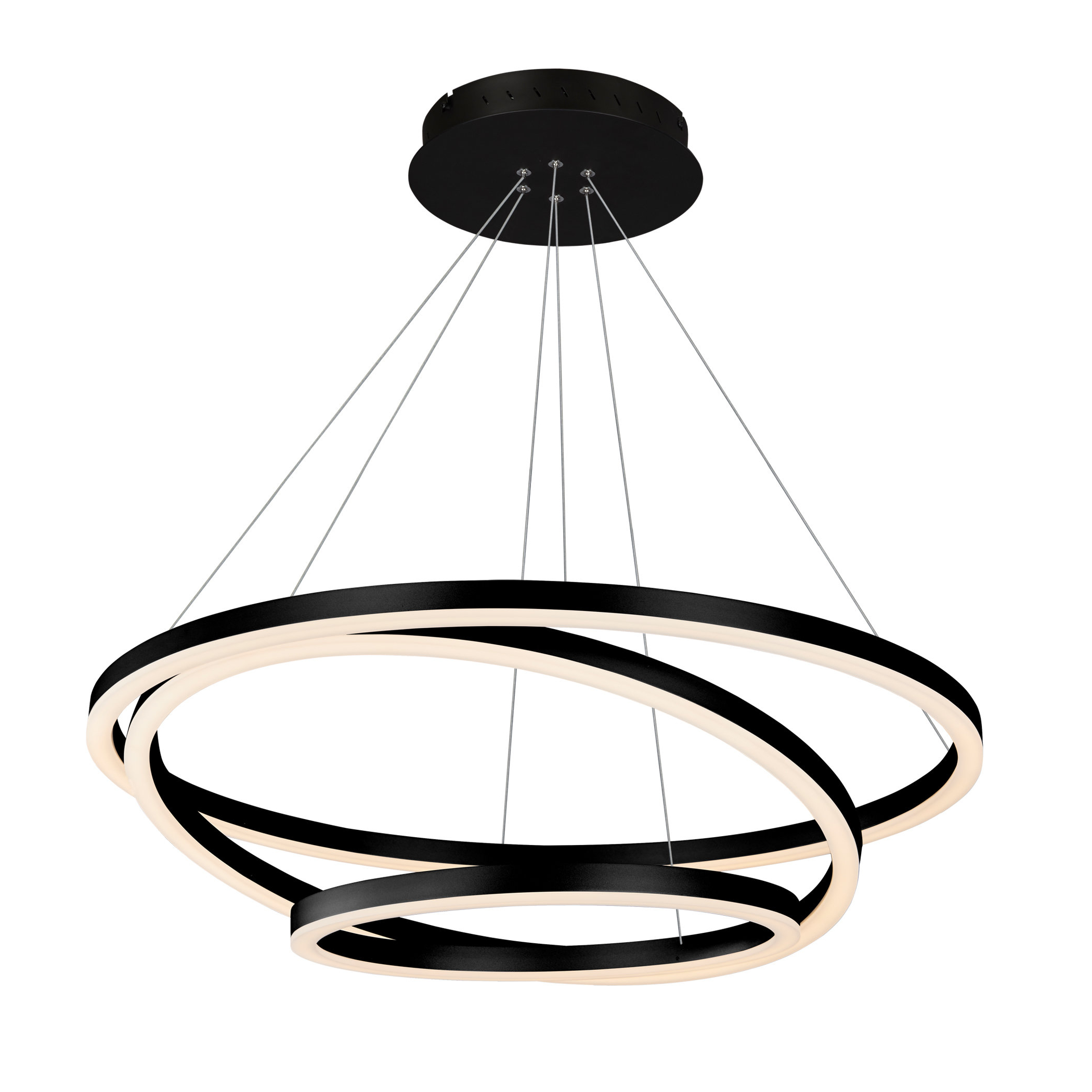 Preferred Joon 6 Light Globe Chandeliers Regarding Chifdale 3 Light Led Geometric Chandelier (View 17 of 20)