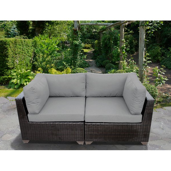 Preferred Kunz Loveseats With Cushions With Aluminum Patio Loveseat (View 15 of 20)