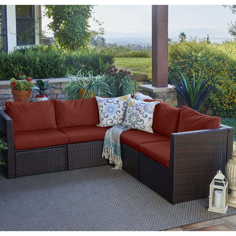 Preferred Lachesis Patio Sectional With Cushions (View 18 of 20)