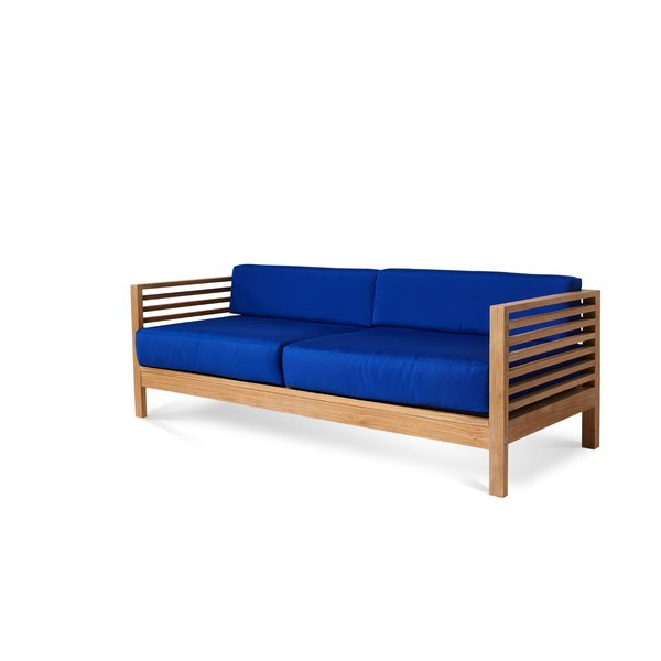 Preferred Montford Teak Patio Sofas With Cushions Intended For Crider Teak Patio Sofa With Cushions (Gallery 9 of 20)