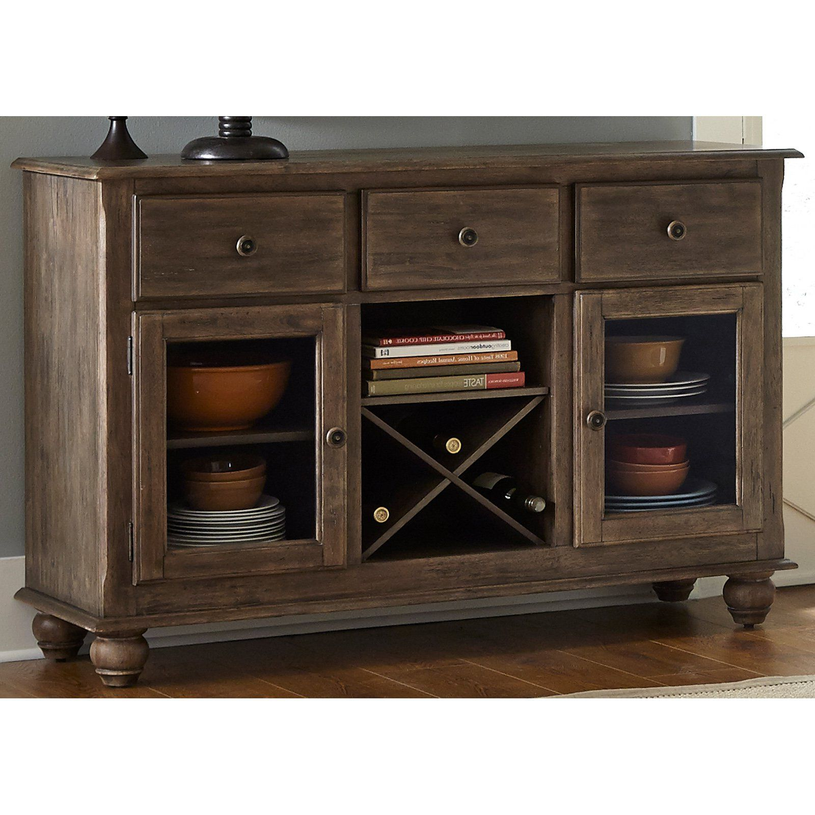 Preferred Nashoba Sideboards With Regard To Liberty Furniture Industries Candlewood Dining Server (View 17 of 20)