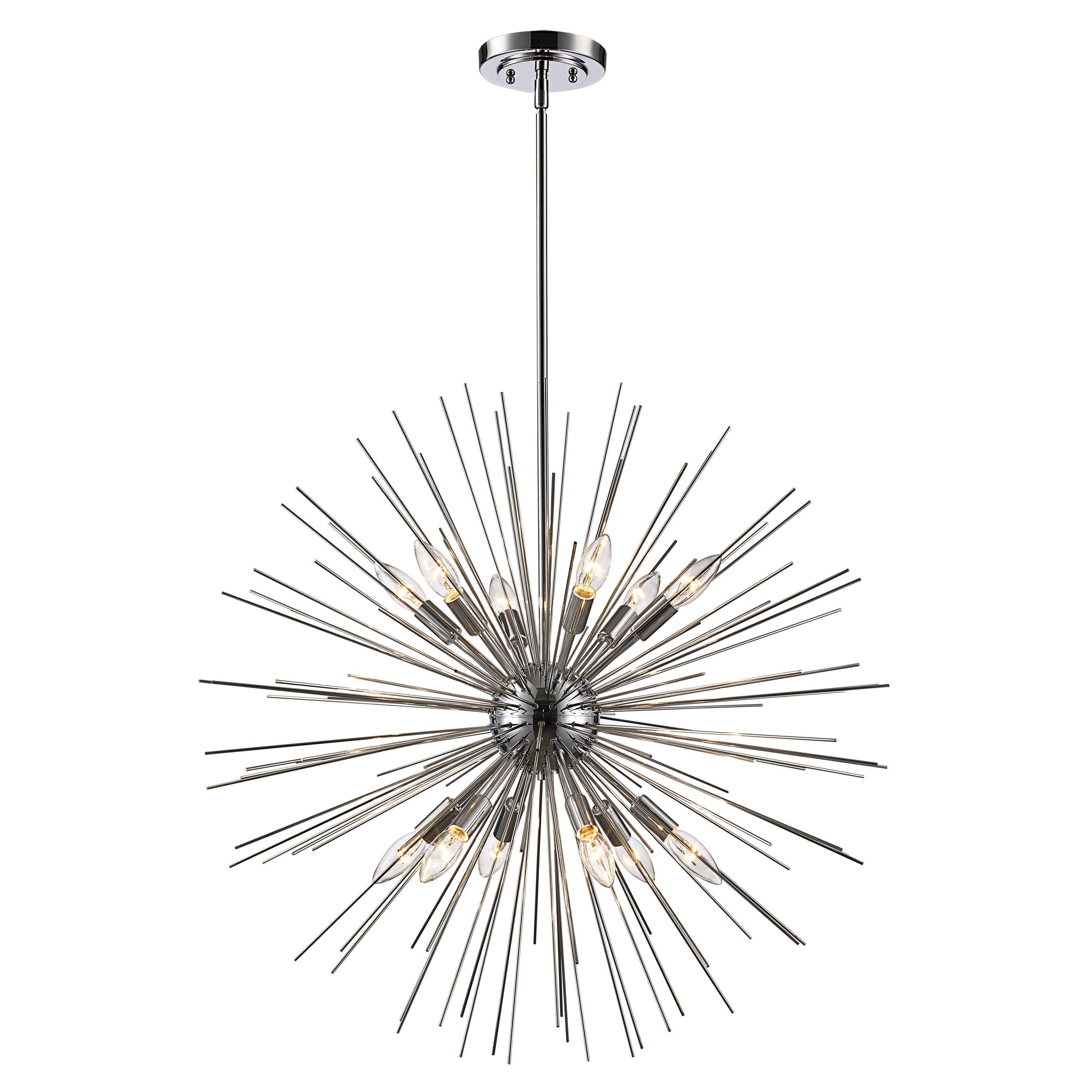 Preferred Nelly 12 Light Sputnik Chandeliers In Antonie 12 Light Sputnik Chandelier (Gallery 6 of 20)