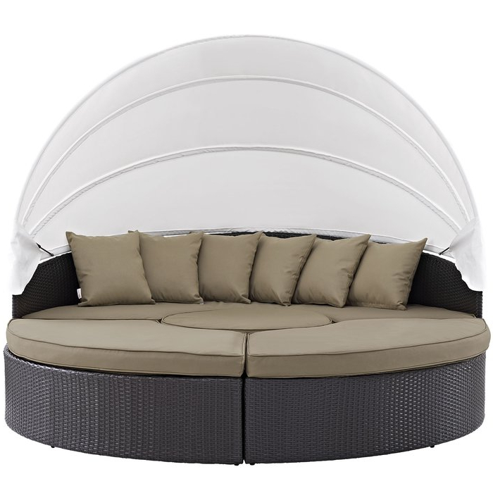 Preferred Patio Daybeds With Cushions Intended For Brentwood Patio Daybed With Cushions (View 16 of 20)