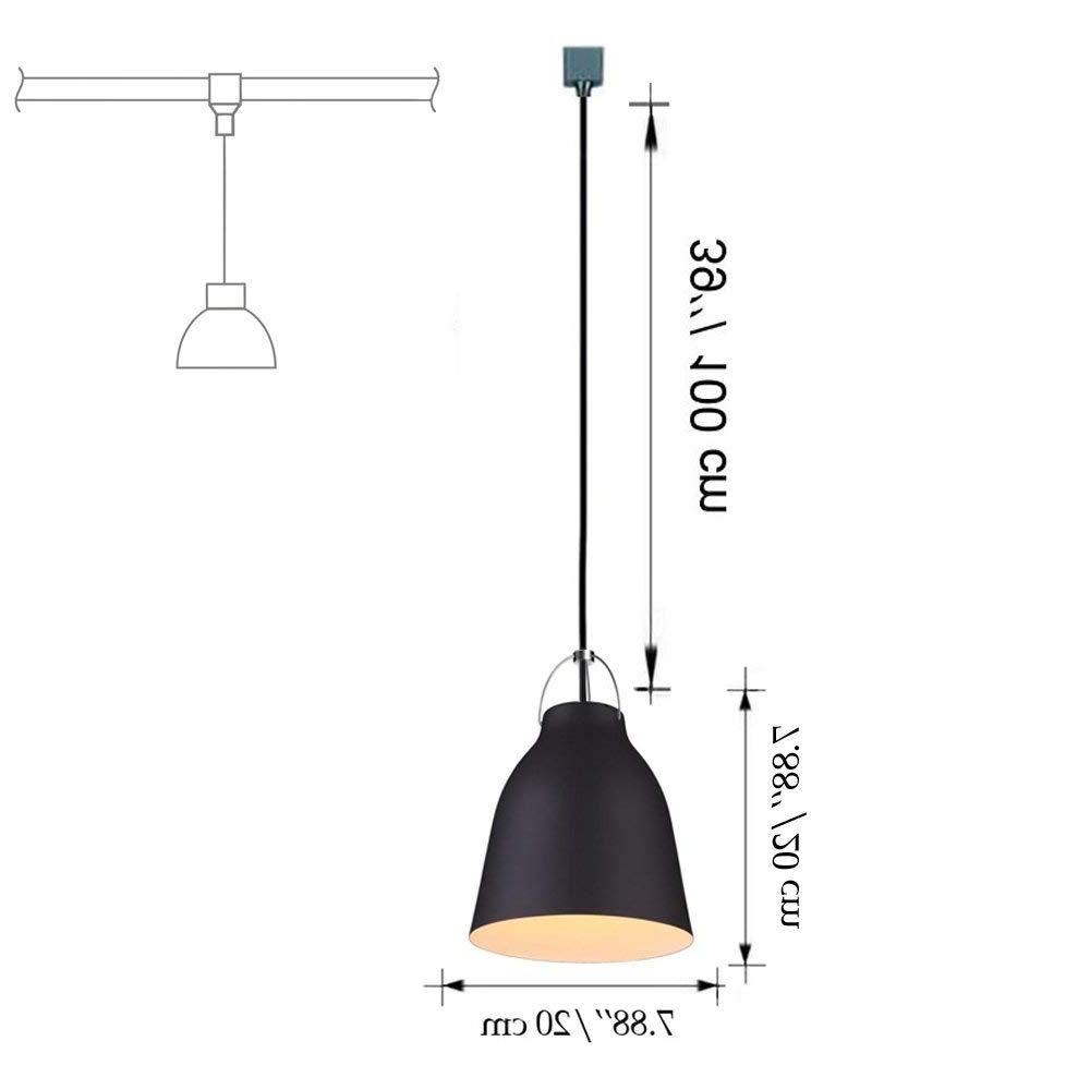Preferred Ryker 1 Light Single Dome Pendants Pertaining To Track Light Metal Pail Shade Pendants Restaurant Chandelier (Gallery 14 of 20)