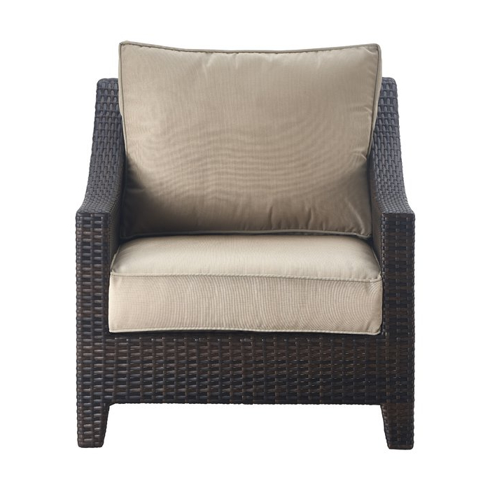 Preferred Tahoe Outdoor Wicker Patio Chair With Cushions Throughout Stapleton Wicker Resin Patio Sofas With Cushions (View 8 of 20)