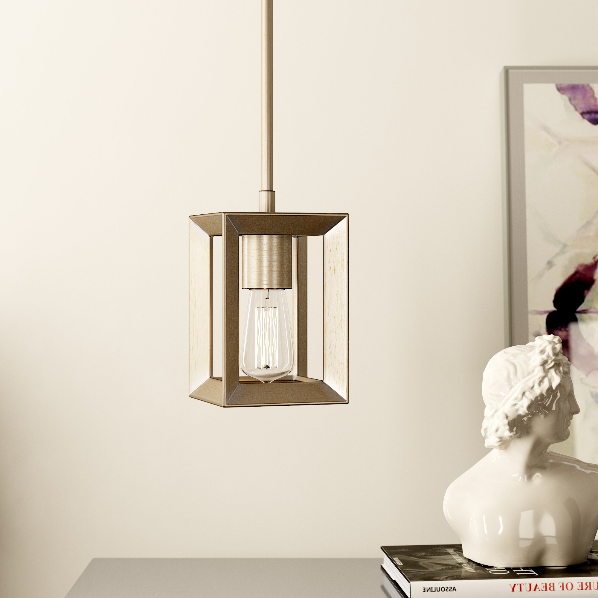 Preferred Thorne 1 Light Square/rectangle Pendant Within Nisbet 4 Light Lantern Geometric Pendants (View 17 of 20)