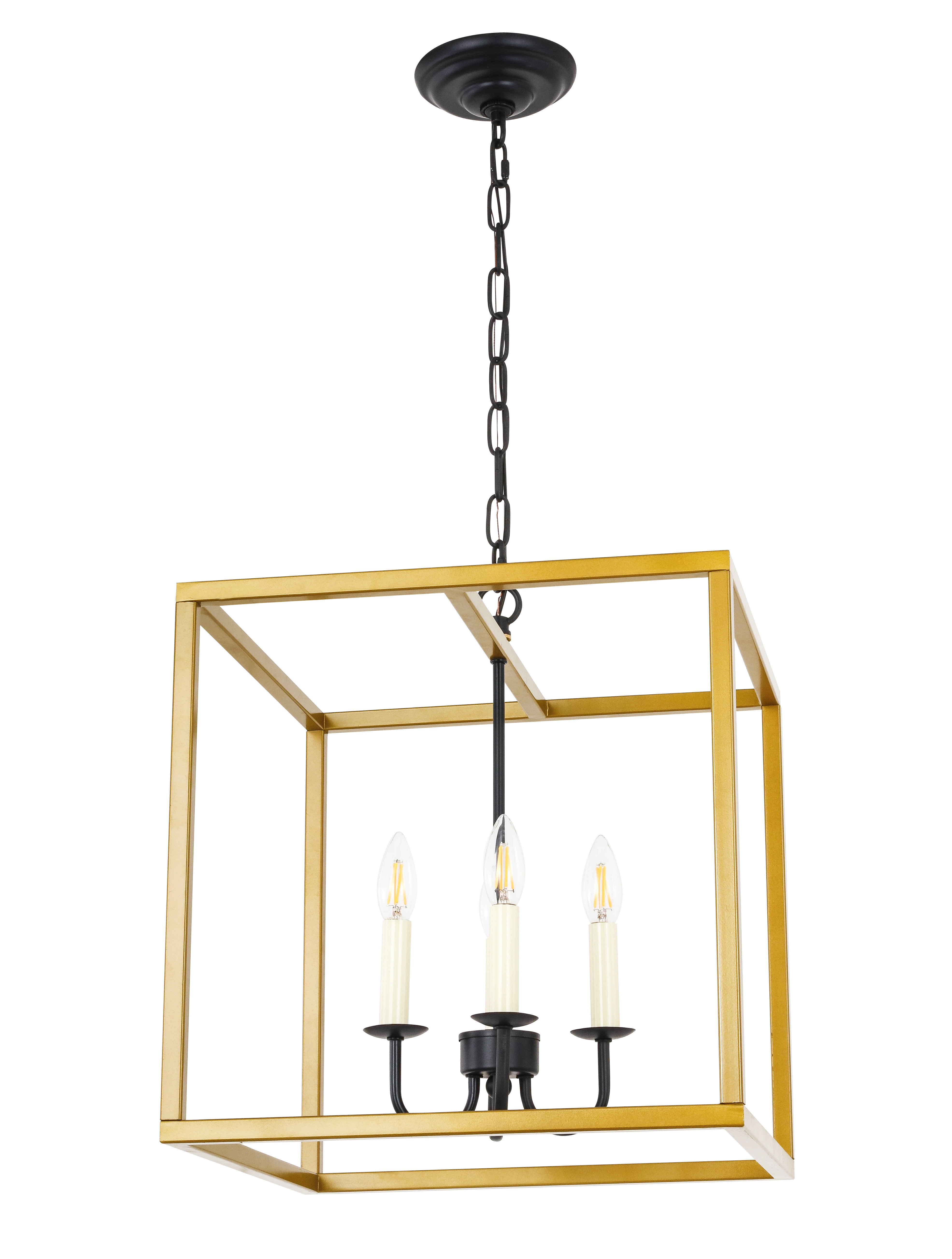 Preferred Tiana 4 Light Geometric Chandeliers With Tankersley 4 Light Square Chandelier (Gallery 8 of 20)
