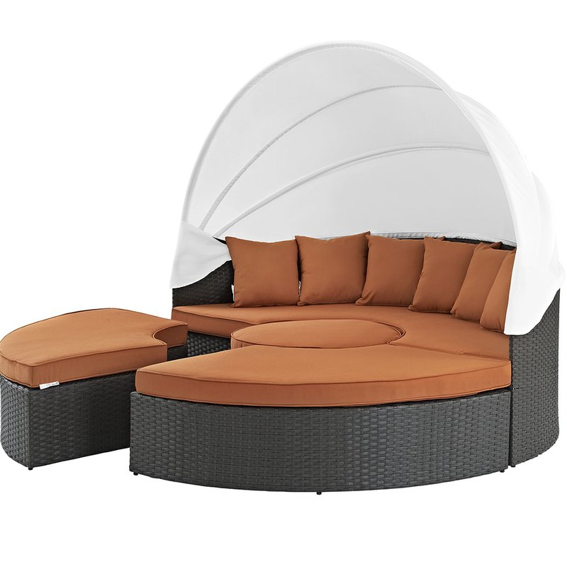 Preferred Tripp Patio Daybed With Sunbrella Cushions Regarding Tripp Patio Daybeds With Cushions (Gallery 12 of 20)