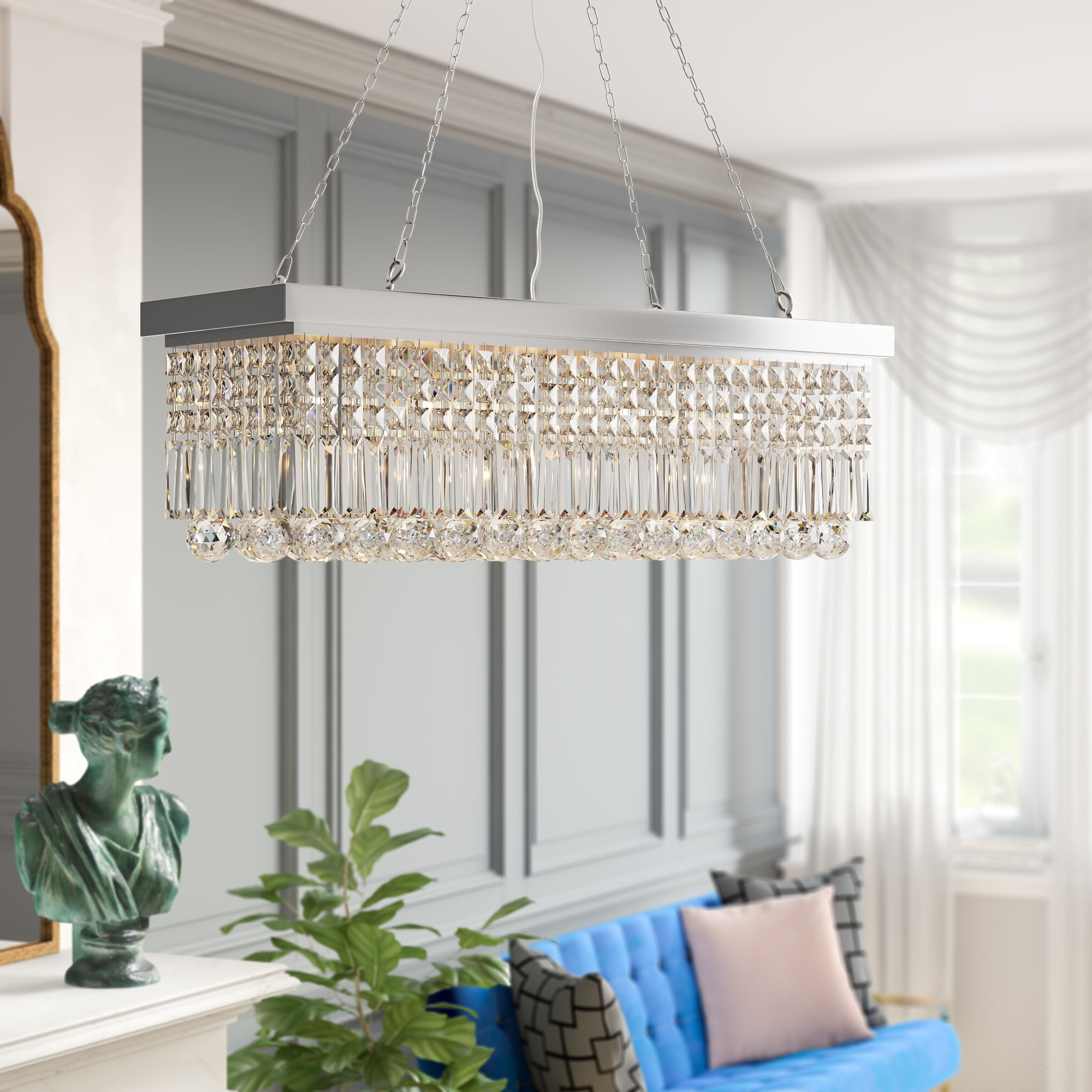 Preferred Verdell 5 Light Crystal Chandeliers Throughout Three Posts Verdell 5 Light Crystal Chandelier (View 5 of 20)