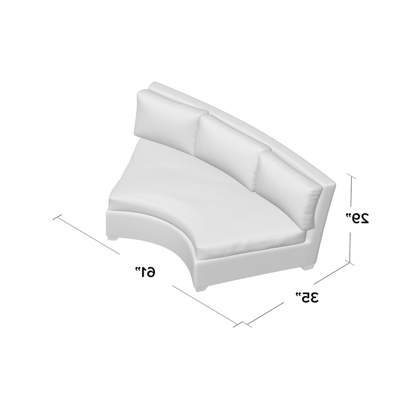 Preferred Waterbury Curved Armless Sofa With Cushions Inside Waterbury Curved Sofa With Cushions (Gallery 7 of 20)