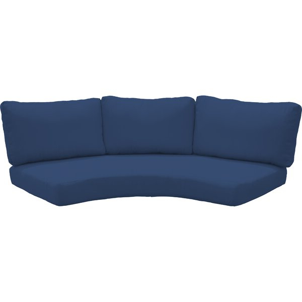 Preferred Waterbury Outdoor 8 Piece Curved Armless Cushion Set With Regard To Waterbury Curved Armless Sofa With Cushions (View 9 of 20)
