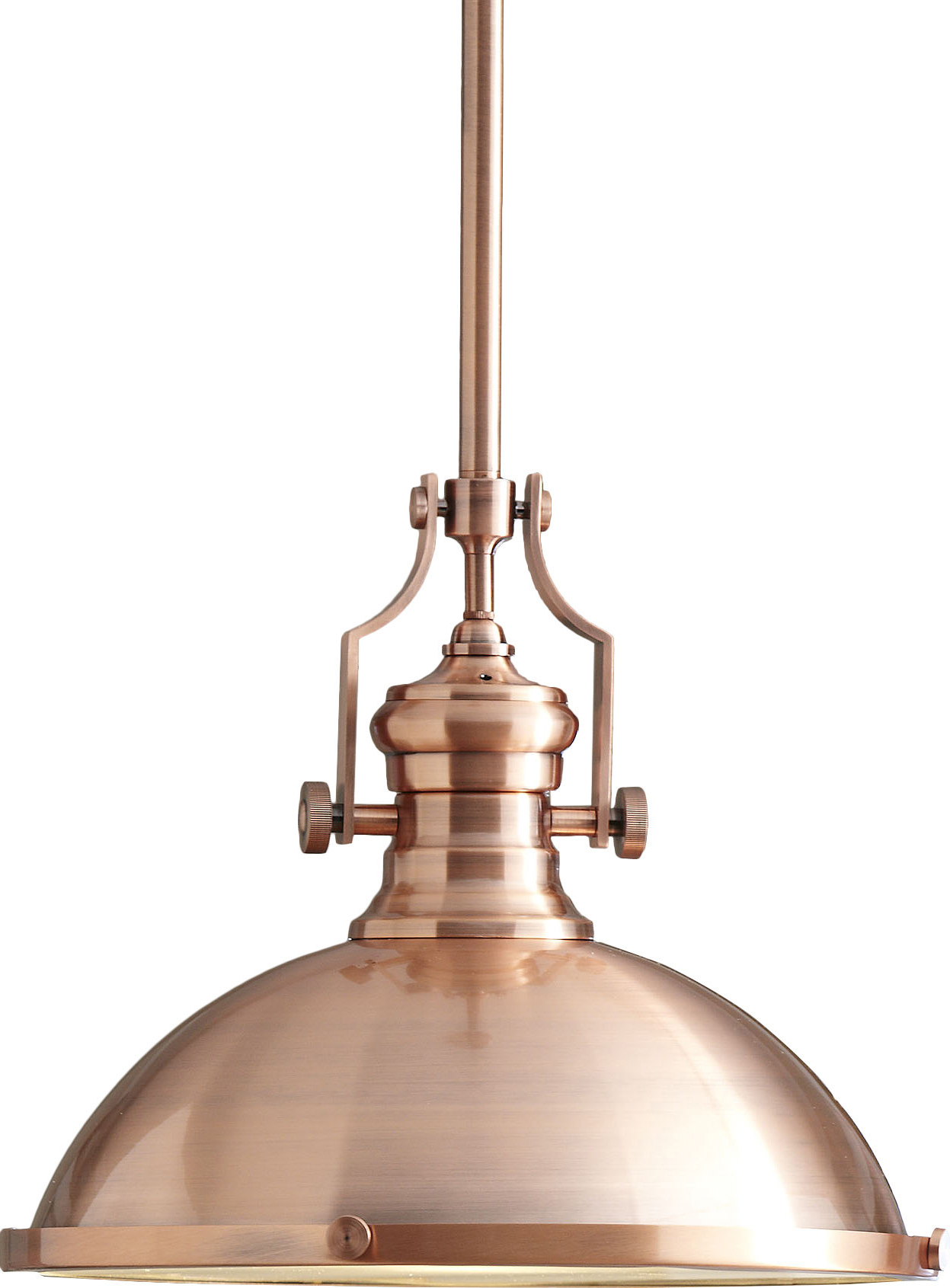 Proctor 1 Light Bowl Pendants Pertaining To Trendy 1 Light Single Dome Pendant (View 13 of 20)
