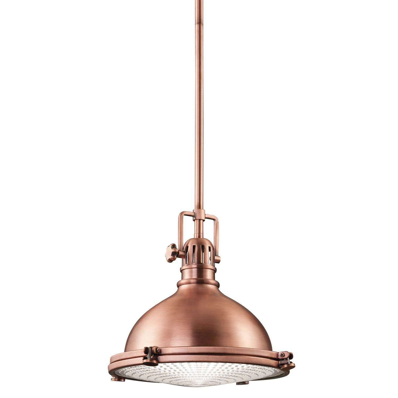 Proctor 1 Light Bowl Pendants With Regard To Trendy Kichler Lighting 2665Aco Hatteras Bay 1Lt Pendant, Antique (Gallery 16 of 20)