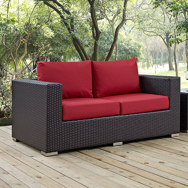 Provencher Patio Loveseat With Cushions For Widely Used Provencher Patio Loveseats With Cushions (View 13 of 20)
