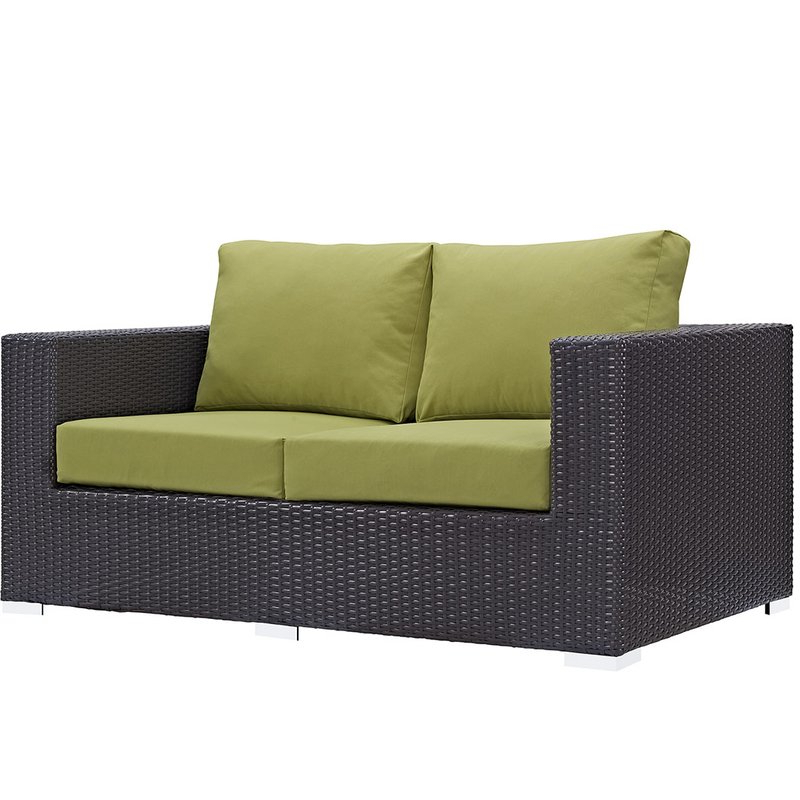 Provencher Patio Loveseat With Cushions Within Favorite Provencher Patio Loveseats With Cushions (Gallery 4 of 20)