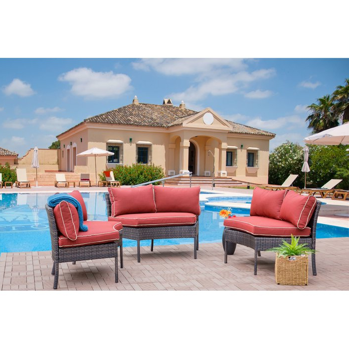 Purington Circular Patio Sectional With Cushions Within Popular Purington Circular Patio Sectionals With Cushions (View 5 of 20)