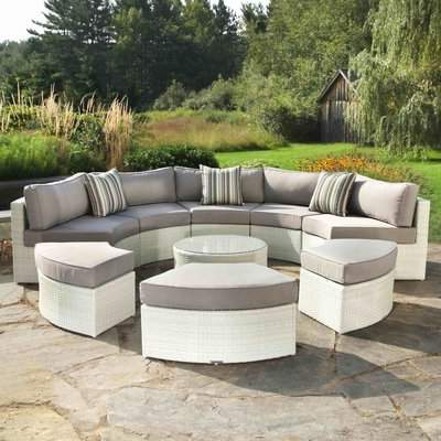 Purington Circular Patio Sectionals With Cushions Within Trendy Madbury Road 9 Piece Sectional Seating Group With Cushions Madbury Road (View 20 of 20)