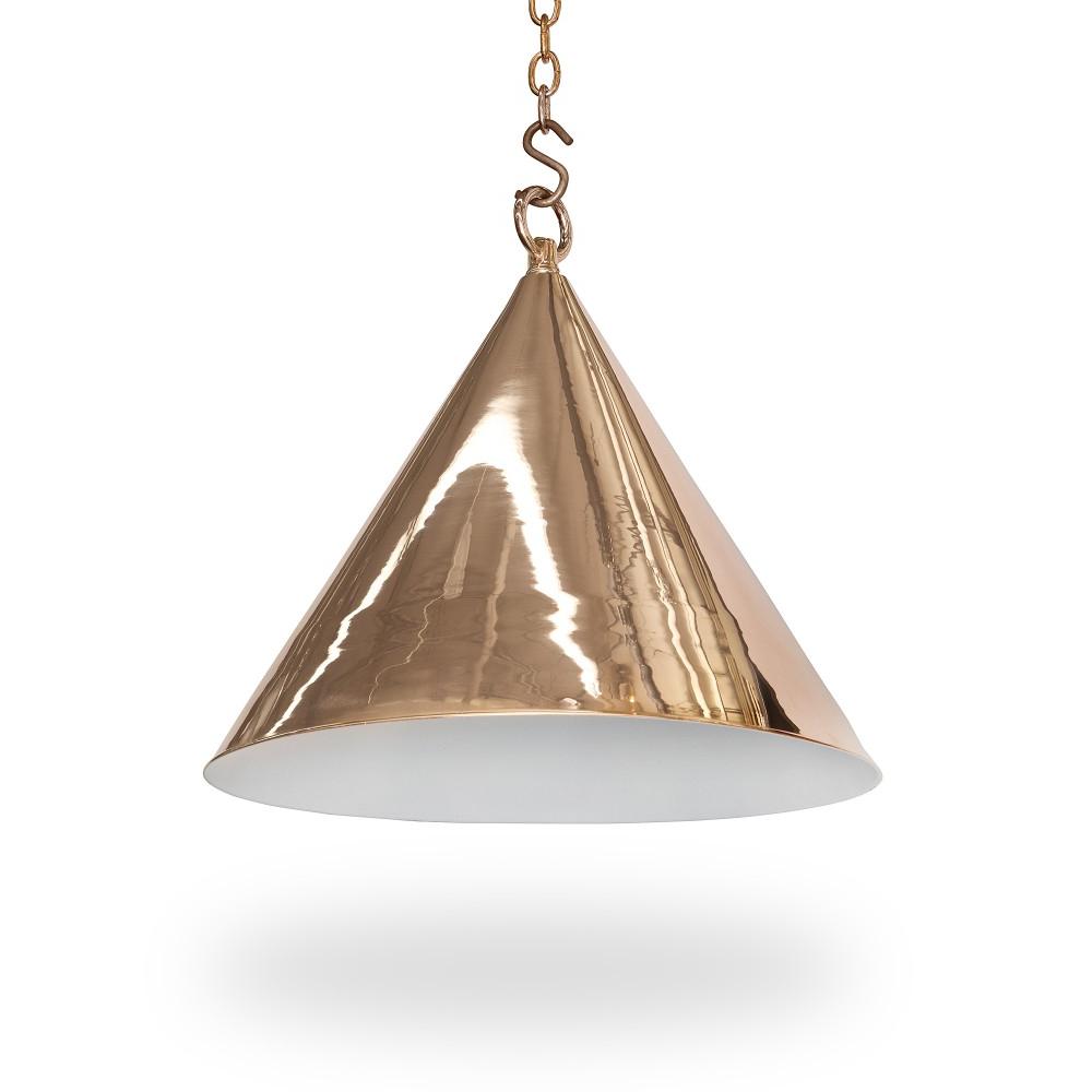 """Recent 15"""" Diameter Cone Light – Ann Morris – Custom Lighting Intended For Moris 1 Light Cone Pendants (Gallery 10 of 20)"""
