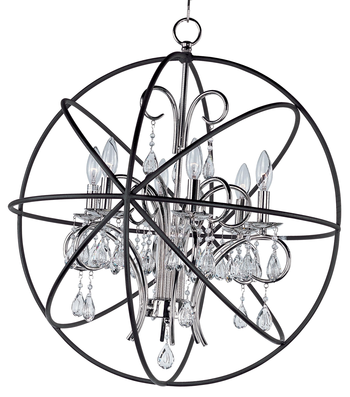 Recent Alden 6 Light Globe Chandeliers Inside Alden 6 Light Globe Chandelier (View 14 of 20)