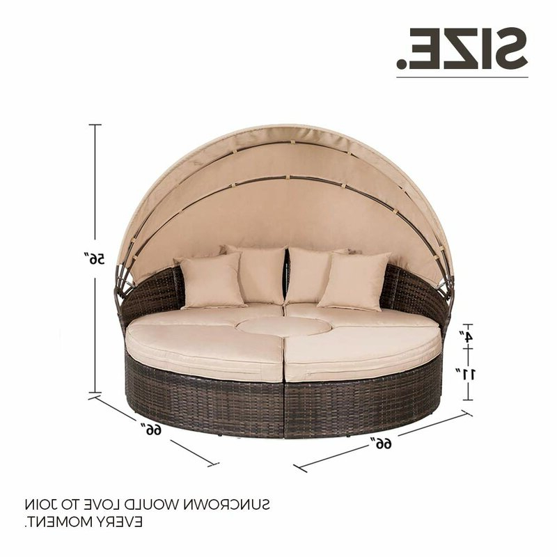 Recent Behling Canopy Patio Daybed With Cushions Intended For Behling Canopy Patio Daybeds With Cushions (View 14 of 20)