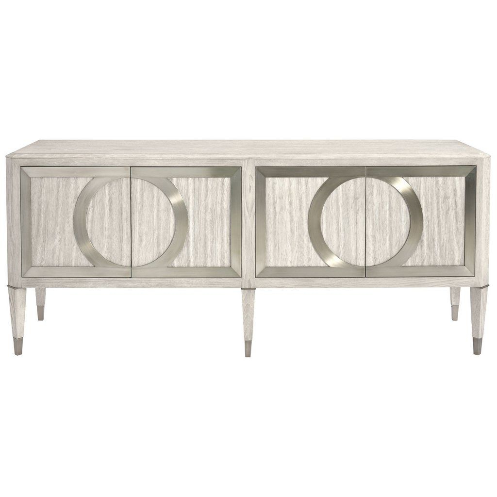Recent Bernhardt Domaine Blanc Dove White Entertainment Console With Regard To Ethelinda Media Credenzas (View 11 of 20)