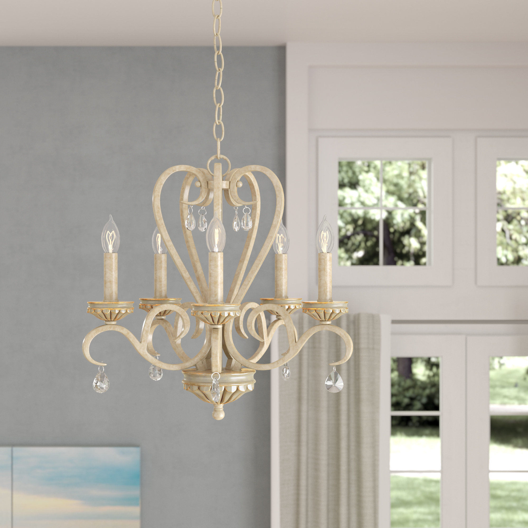 Recent Blanchette 5 Light Candle Style Chandeliers With Khaled 5 Light Candle Style Chandelier (View 8 of 20)