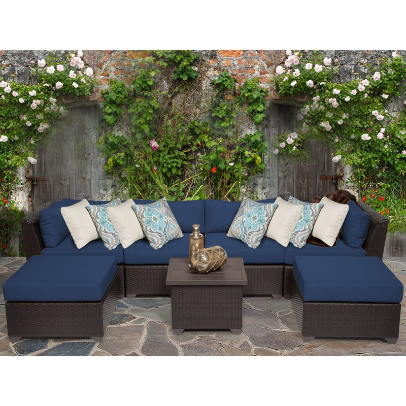 Recent Camak Patio Loveseats With Cushions Inside Camak 7 Piece Sectional Seating Group With Cushions (View 16 of 20)
