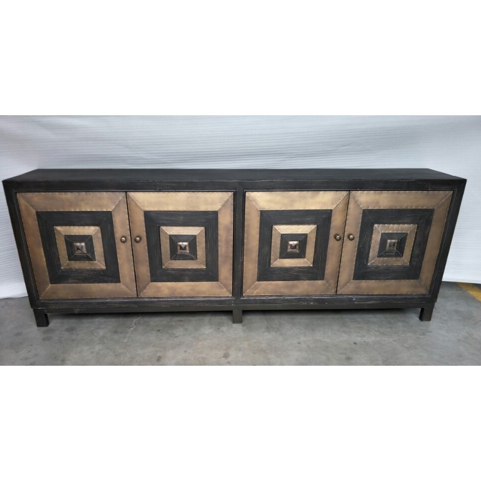 Recent Cdh 4 Door Sideboard In Antique Brass Intended For Solana Sideboards (View 17 of 20)