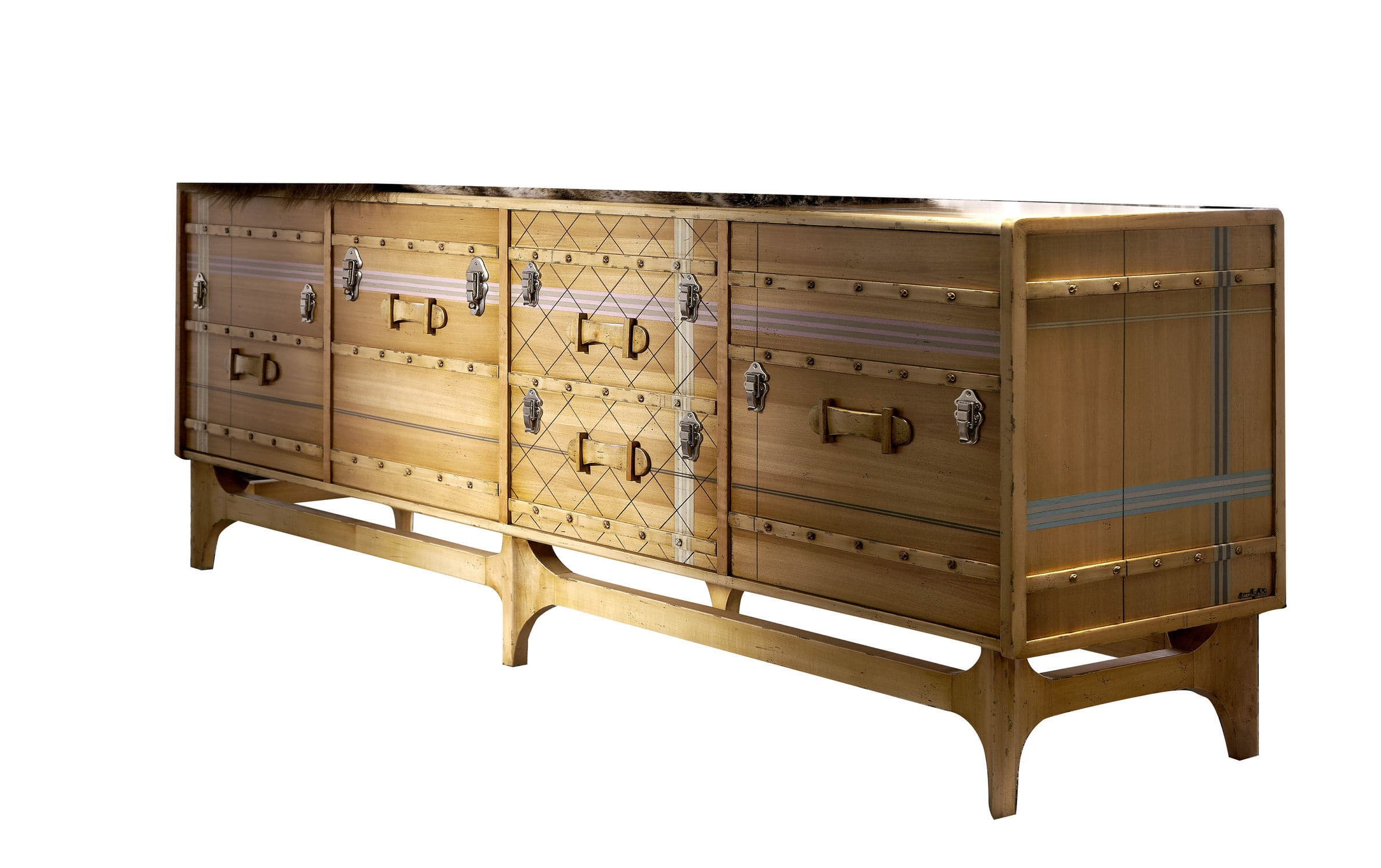 Recent Contemporary Sideboard / Wooden / Custom – Suitcase: Ltv With Regard To Lola Sideboards (View 15 of 20)