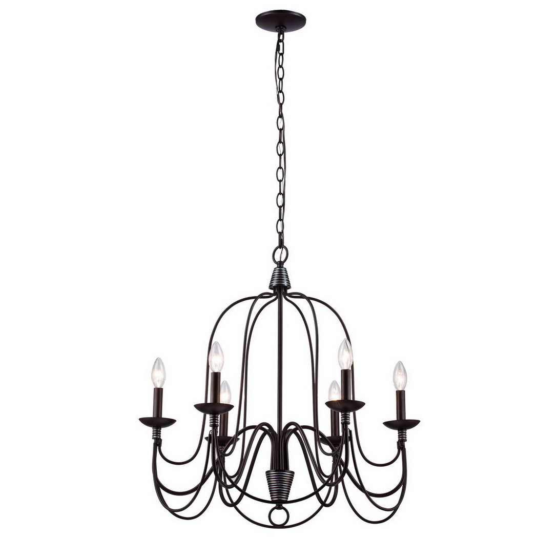 Recent Crim Vintage 6 Light Chandelier For Watford 6 Light Candle Style Chandeliers (Gallery 13 of 20)