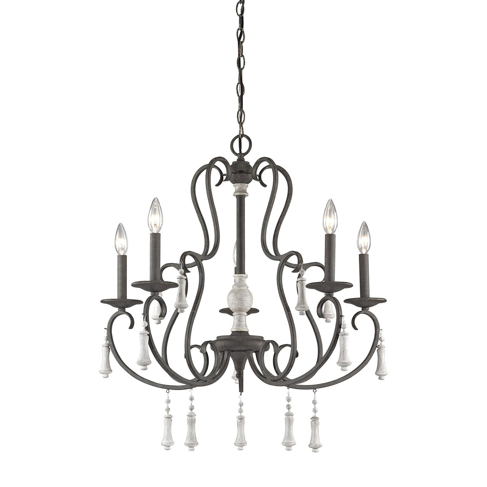 Recent Elk Lighting Porto Cristo 52022/5 5 Light Chandelier In 2019 In Berger 5 Light Candle Style Chandeliers (View 12 of 20)