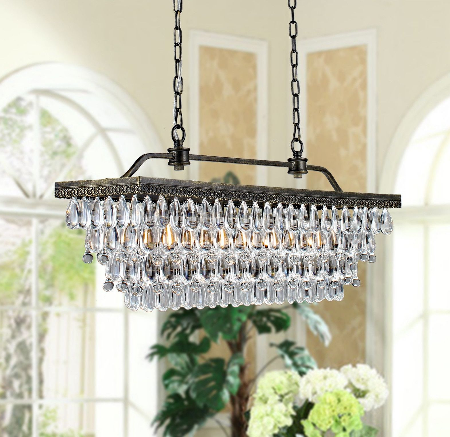 Recent Fab French Farmhouse Chandelier From Twelve Days In Paris Within Whitten 4 Light Crystal Chandeliers (View 9 of 20)