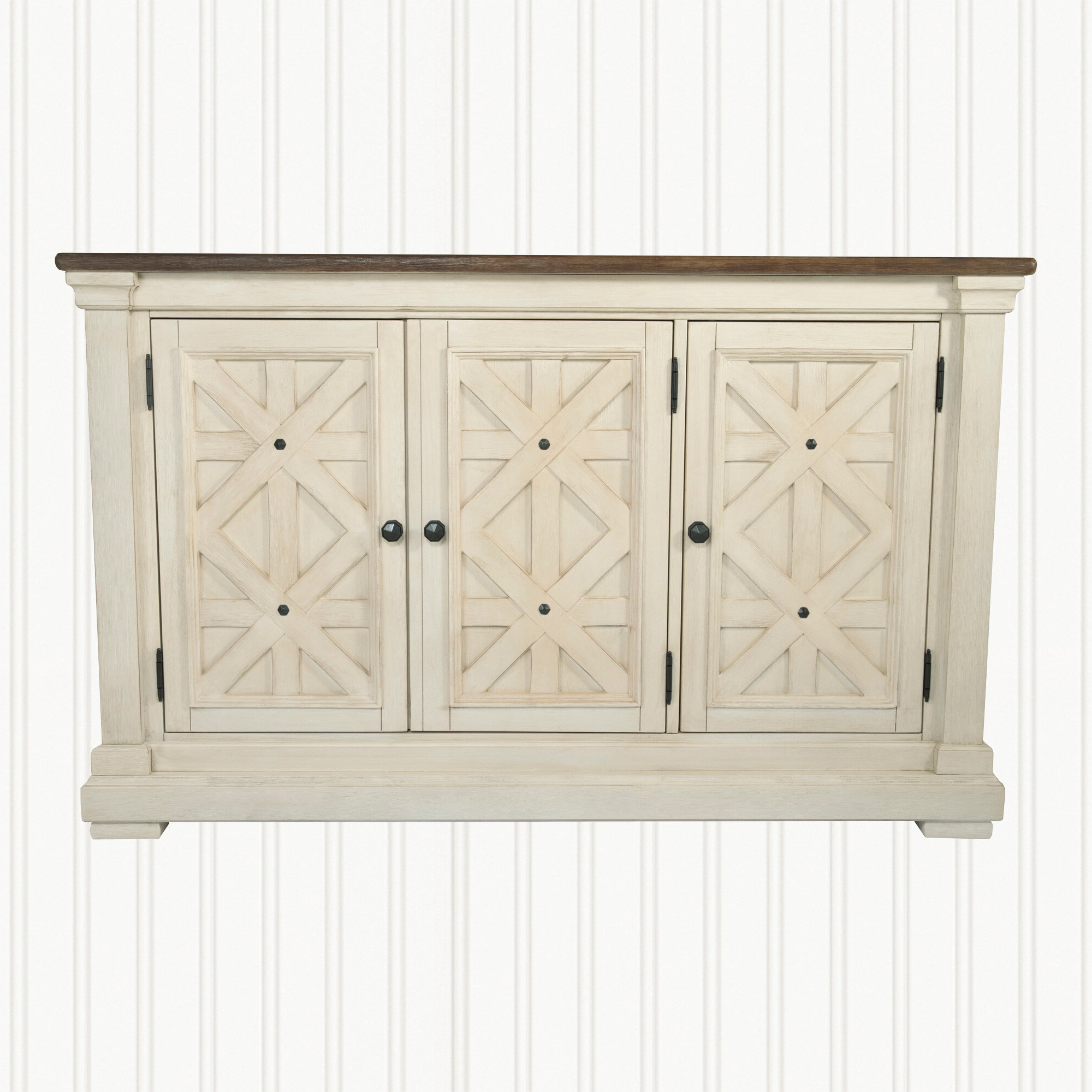 Recent Farmhouse & Rustic White Wood Sideboards & Buffets (View 17 of 20)