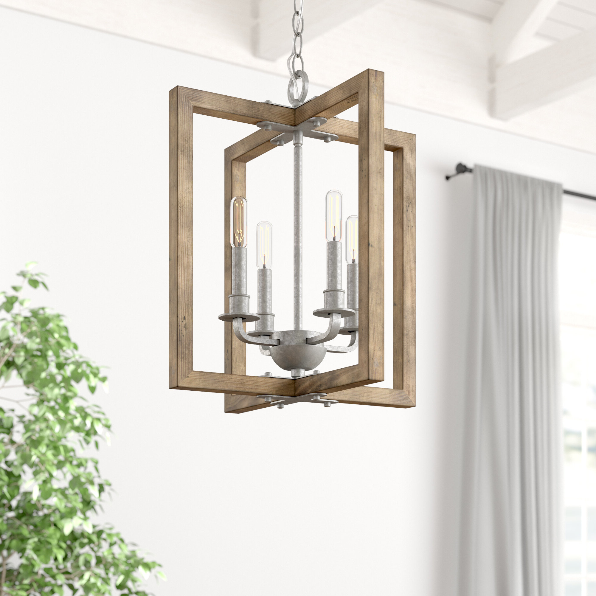 Recent Freeburg 4 Light Lantern Square / Rectangle Pendants In Daugherty 4 Light Square/rectangle Chandelier (View 19 of 20)