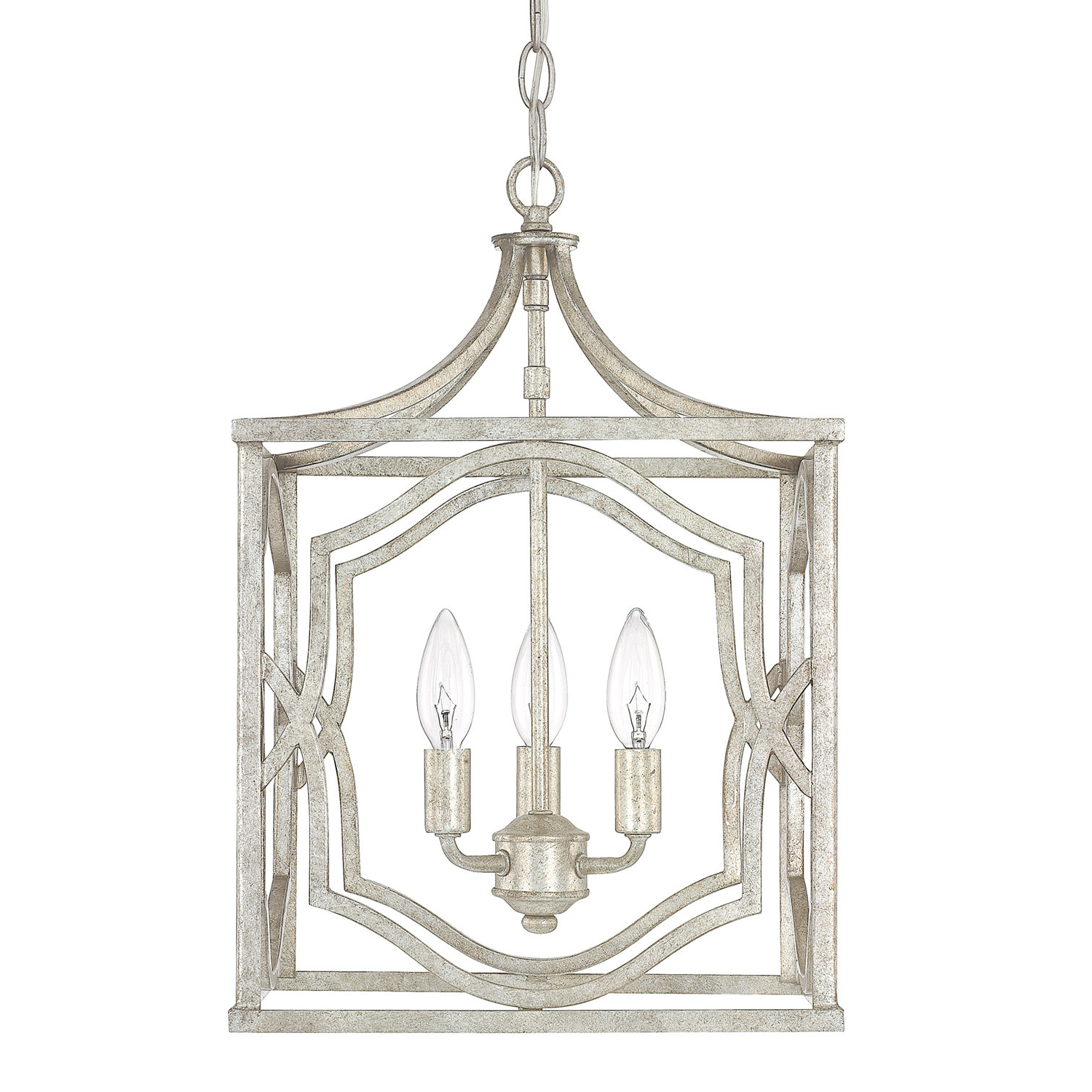 Recent Gabriella 3 Light Lantern Chandeliers Within Destrey 3 Light Lantern Square/rectangle Pendant (View 19 of 20)